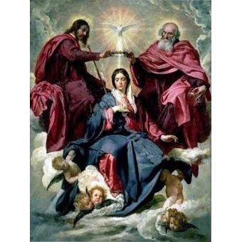 - Tableau -Coronacion de la Virgen- - Velazquez, Diego de Silva