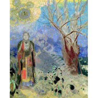 Tableaux orientales - Tableau -The Buddha (Buda)- - Redon, Odilon