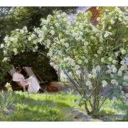 Tableau -Line Roses (The artists wife at Skagen)-