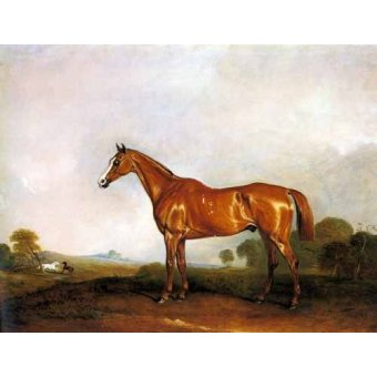 Tableau -A Chestnut Hunter in a Landscape-