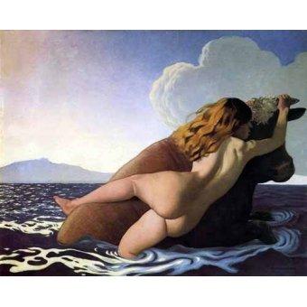 Tableaux de Nus - Tableau - Le viol de Europa - - Valloton, Felix