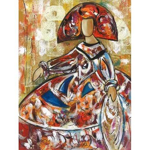 pinturas modernas - Quadro -Meninas (I)-