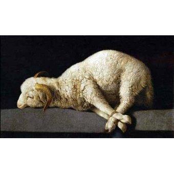 Tableaux nature morte - Tableau -Agnus Dei, 1635-40- - Zurbaran, Francisco de