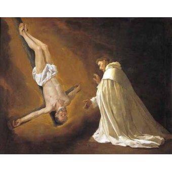 Tableaux religieuses - Tableau -Aparicion de San Pedro Apostol a San pedro Nolasco- - Zurbaran, Francisco de