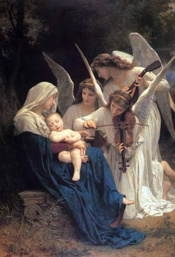 tableaux-religieuses - Tableau -Song of the Angels- - Bouguereau, William