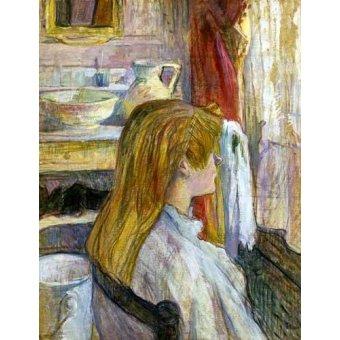 Tableaux de Personnages - Tableau -Femme à la fenêtre- - Toulouse-Lautrec, Henri de