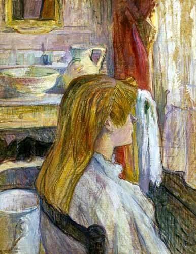 tableaux-de-personnages - Tableau -Femme à la fenêtre- - Toulouse-Lautrec, Henri de