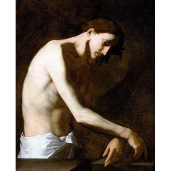Tableaux religieuses - Tableau -La Flagelacion De Jesucristo- - Ribera, Jose de