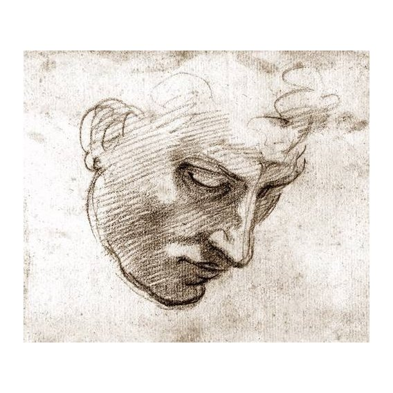 pinturas do retrato - Quadro -Studio di volto maschile-