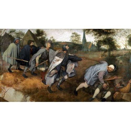 pinturas do retrato - Quadro -La parabola de los ciegos-