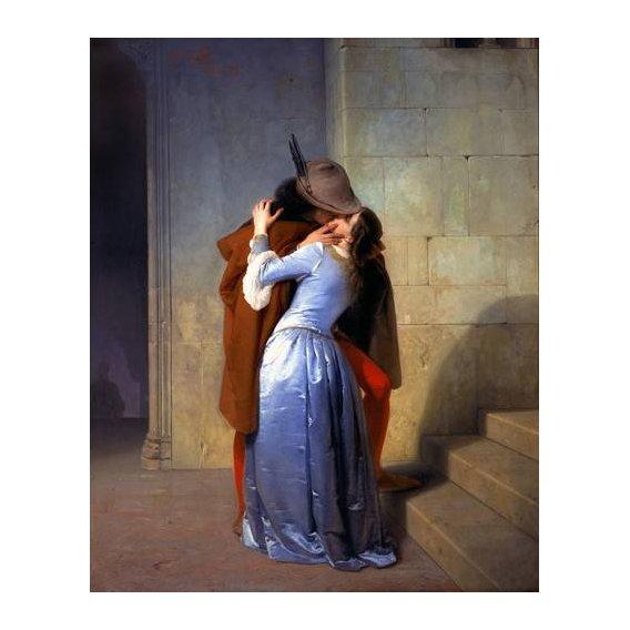 pinturas do retrato - Quadro -The Kiss (El Beso)-
