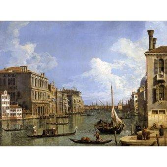 Tableaux de paysages marins - Tableau -Veduta del canal grande- - Canaletto, Giovanni A. Canal