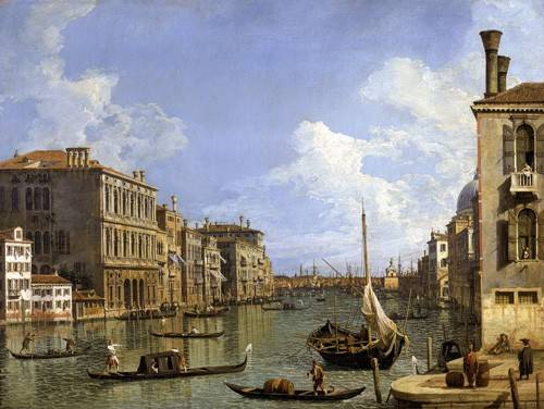 tableaux-de-paysages-marins - Tableau -Veduta del canal grande- - Canaletto, Giovanni A. Canal