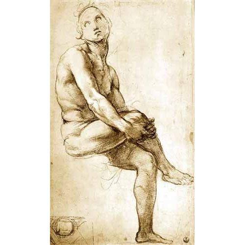 Tableau -Desnudo masculino sentado-