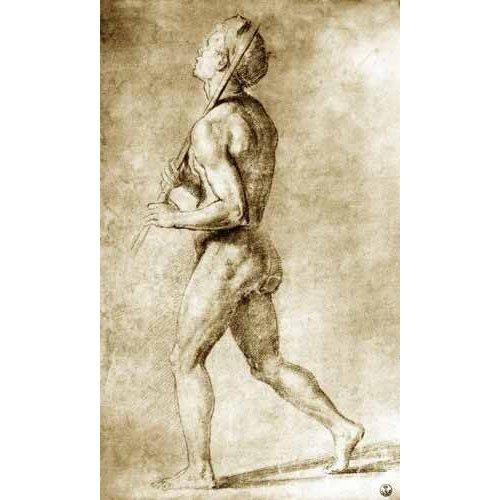 imagens de mapas, gravuras e aquarelas - Quadro -Estudio de desnudo masculino-