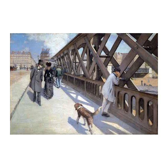 pinturas de paisagens - Quadro -Le Pont De L Europe, Paris, 1876-