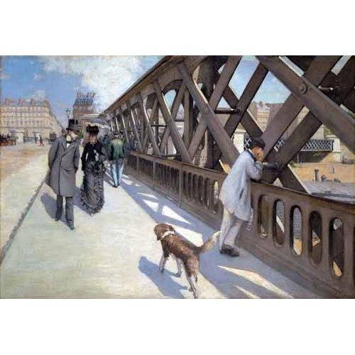 Tableau -Le Pont De L Europe, Paris, 1876-