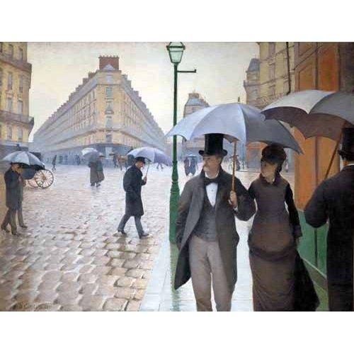 pinturas de paisagens - Quadro -Rue De Paris, Temps de pluie-
