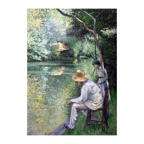 pinturas de paisagens - Quadro -Peche a la ligne - Angling, 1878-