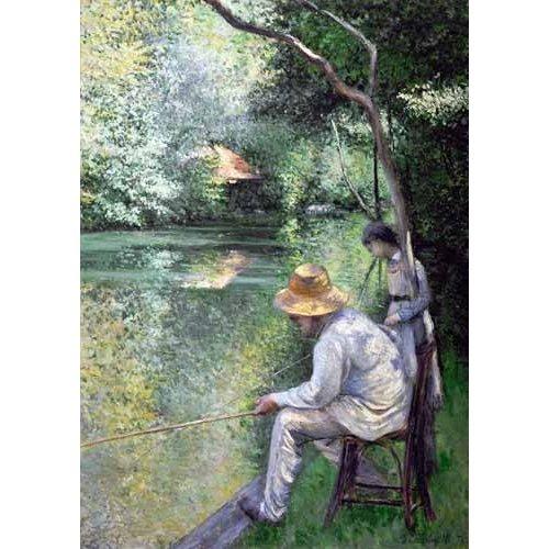 Tableau -Peche a la ligne - Angling, 1878-