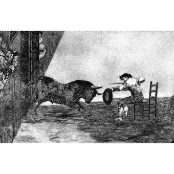 Tableaux cartes du monde, dessins - Tableau -Tauromaquia Num 18 - Temeridad de Martincho- - Goya y Lucientes, Francisco de