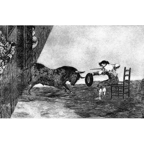 Tableau -Tauromaquia Num 18 - Temeridad de Martincho-