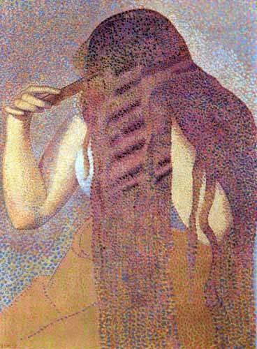 tableaux-de-personnages - Tableau -Les cheveux, 1892- - Cross, Henri Edmond