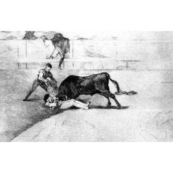 Tableaux cartes du monde, dessins - Tableau -Tauromaquia Num 33 - Desgraciada muerte de Pepe Illo- - Goya y Lucientes, Francisco de