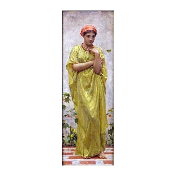 pinturas do retrato - Quadro -The Green Butterfly-
