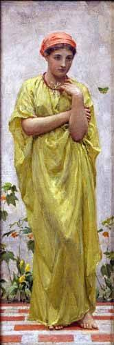 tableaux-de-personnages - Tableau -The Green Butterfly- - Moore, Albert Joseph