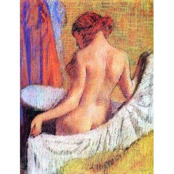 Tableaux de Nus - Tableau -Après le bain femme avec une serviette- - Degas, Edgar