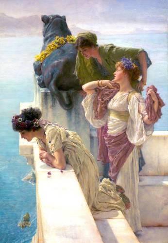 tableaux-de-personnages - Tableau -A Coign Of Vantage- - Alma-Tadema, Lawrence
