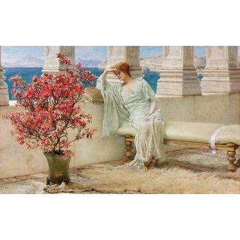 - Tableau -Su mirada y sus pensamientos se encuentran en la lejania, 1897- - Alma-Tadema, Lawrence