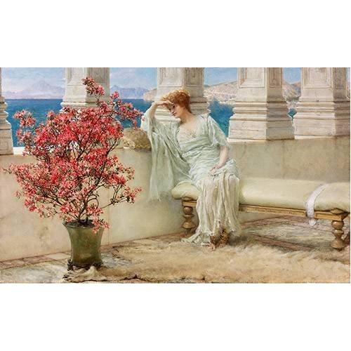 pinturas do retrato - Quadro -Su mirada y sus pensamientos se encuentran en la lejania, 1897-