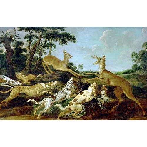 fotos de fauna - Quadro -Hunting Scene, 1640-1650 (Escena de caza)-