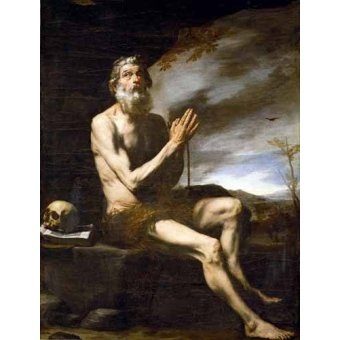 Tableaux religieuses - Tableau -San Pablo Ermitaño- - Ribera, Jose de