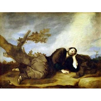 Tableaux religieuses - Tableau -El Sueño De Jacob- - Ribera, Jose de