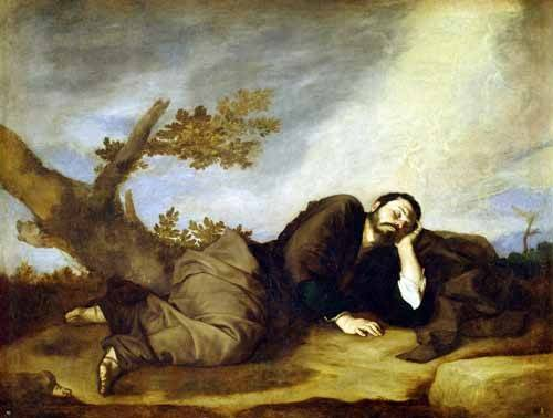 tableaux-religieuses - Tableau -El Sueño De Jacob- - Ribera, Jose de