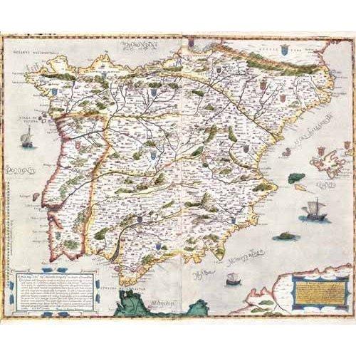 imagens de mapas, gravuras e aquarelas - Quadro -España antiguo-1 -