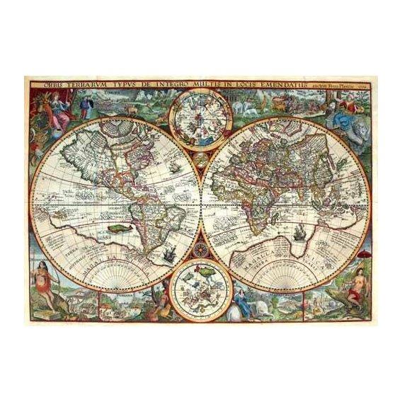 imagens de mapas, gravuras e aquarelas - Quadro -1594, Orbis Plancius-