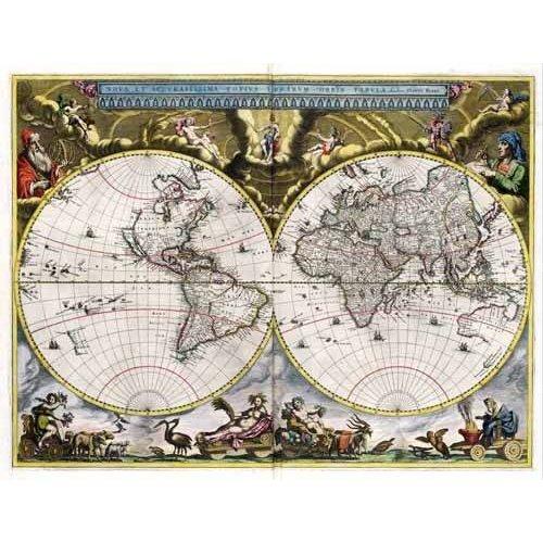 Tableau -Nova et Accuratissima Terrarum Orbis Tabula (J_Blaeu, 1664)-