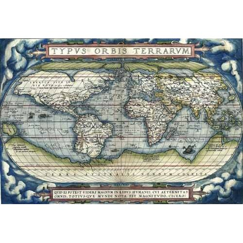 Tableau -Ortelius World Map, 1570-