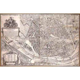 - Tableau -Plano de Valencia del Padre Tosca, 1704- - Anciennes cartes