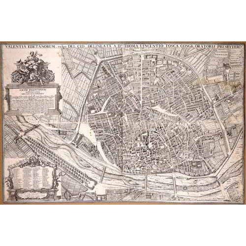 Tableau -Plano de Valencia del Padre Tosca, 1704-