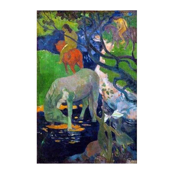 pinturas de paisagens - Quadro -Caballo Blanco, 1898-