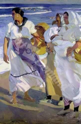 tableaux-de-personnages - Tableau -Pêcheurs valenciens, 1915- - Sorolla, Joaquin