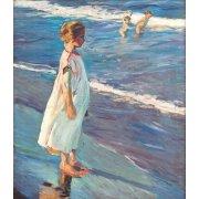 Tableau -Petite fille sur la plage-