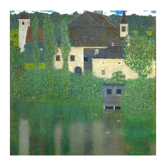 pinturas de paisagens - Quadro -Schloss Unterach am Attersee-