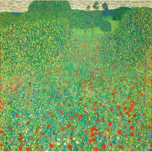 pinturas de paisagens - Quadro -A field of poppies-