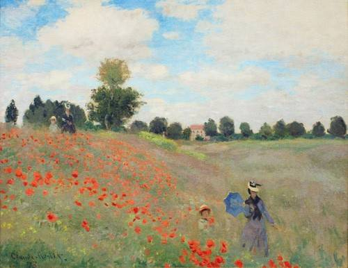 tableaux-de-paysages - Tableau -Les coquelicots, 1873 - - Monet, Claude